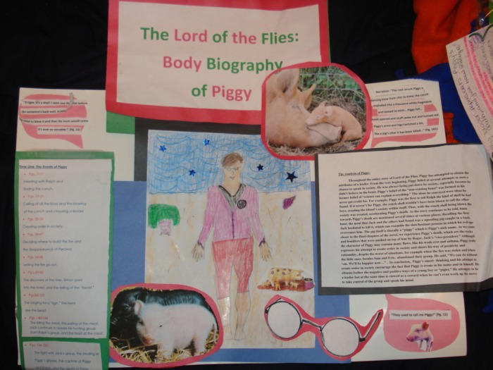Student Work Body Biographies Lotf Michelle Yoo S